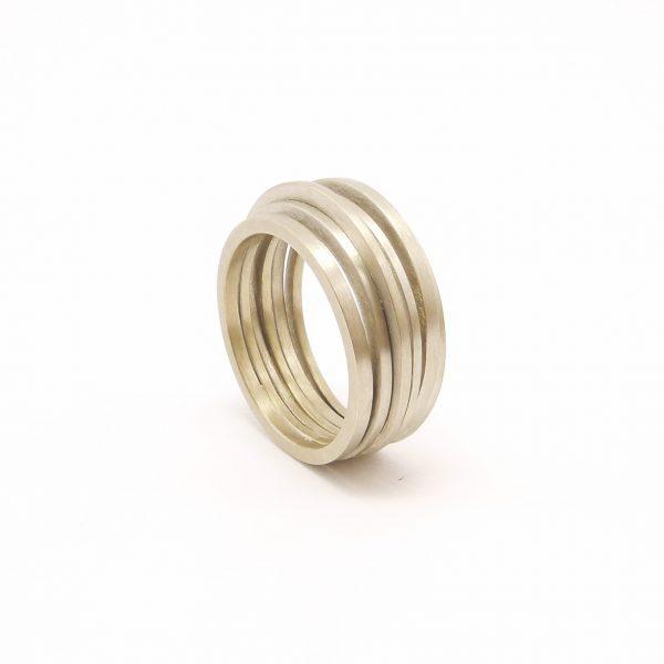 africa - anillo Au 750 blanco paladio