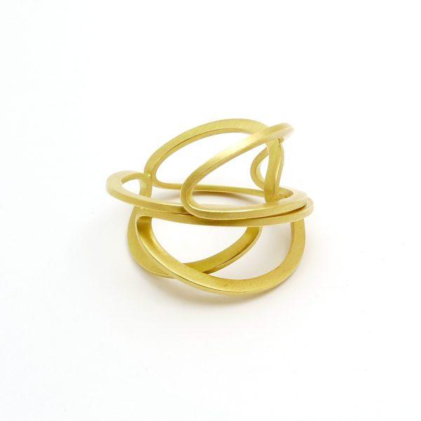 arcos -anillo Au 750 amarillo