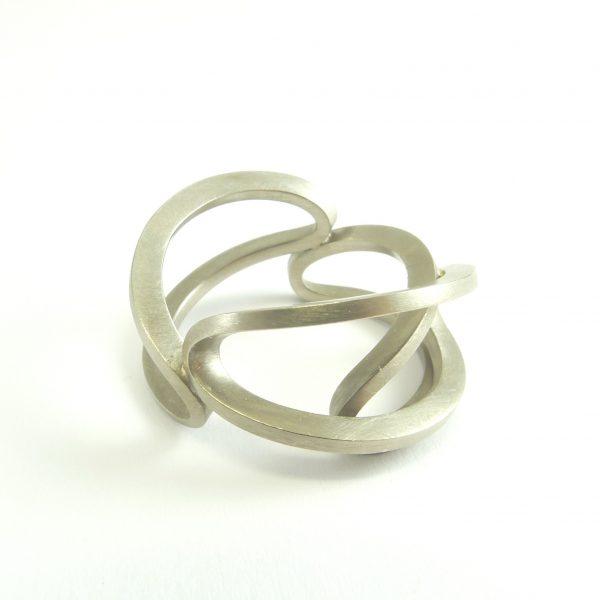 arcos - anillo Au 750 blanco paladio