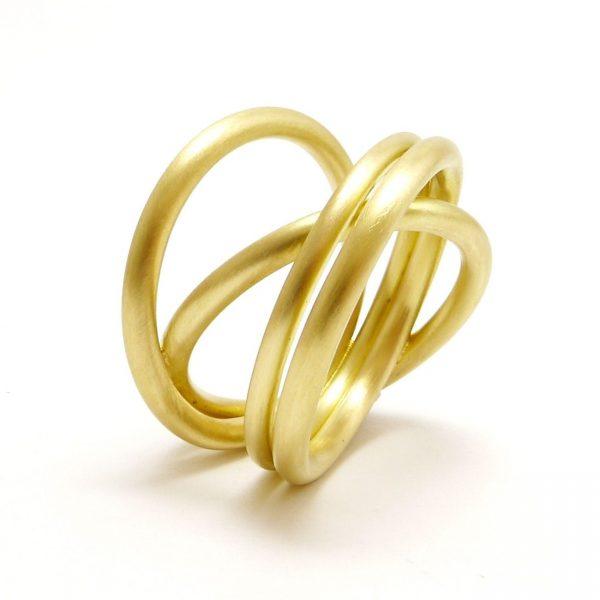 aros -anillo Au 750 amarillo