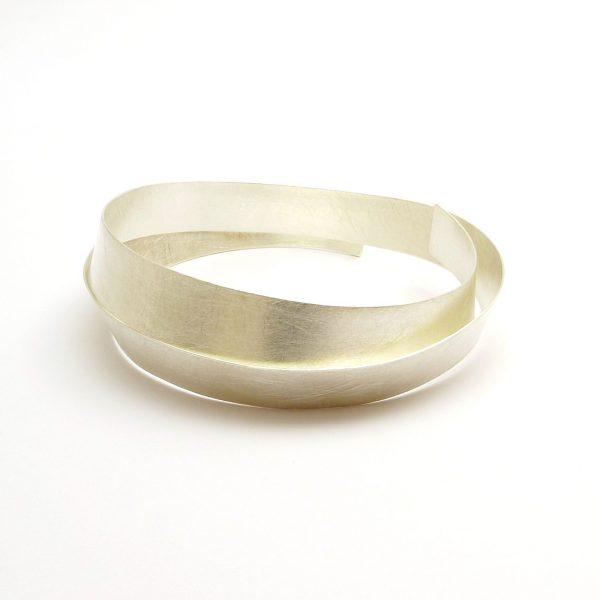 arco fino -pulsera plata