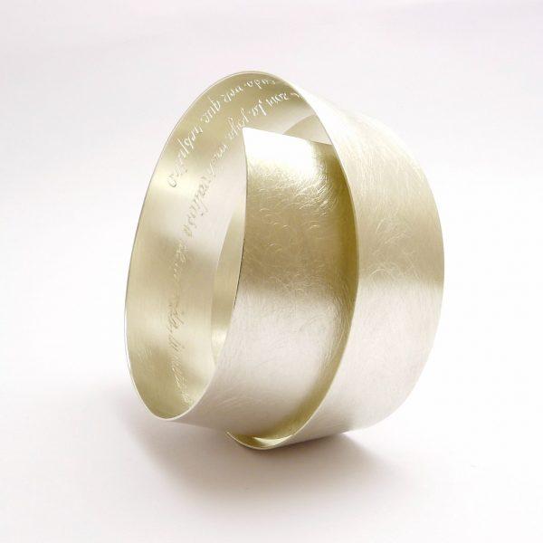 arco - pulsera plata