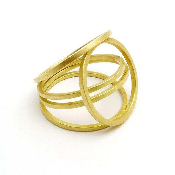 const - anillo Au 750 amarillo