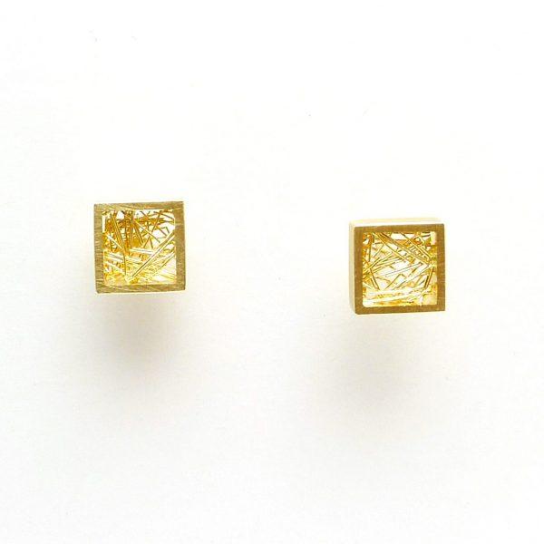maya - pendientes Au 750 amarillo